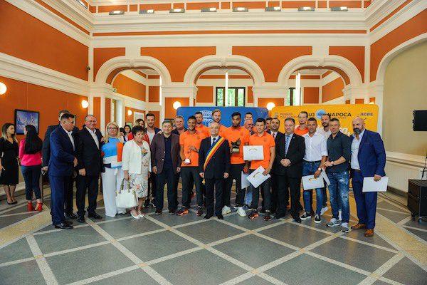 Campioana României a fost premiată de autoritățile locale din Cluj