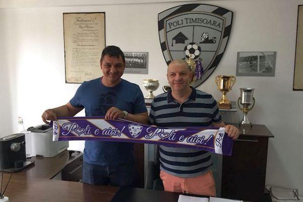 Ionel Ganea este noul antrenor al echipei ACS Poli Timișoara