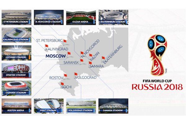 Stadioanele de la Cupa Mondială Rusia 2018
