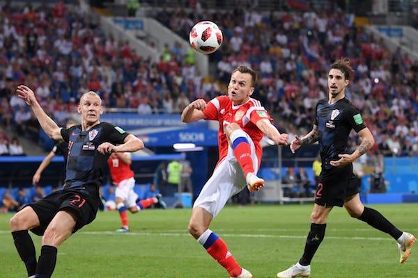 Sferturi de finală: Rusia – Croația 5-6 d.p. (2-2 după 120 de minute). A doua loterie câștigată de croați!