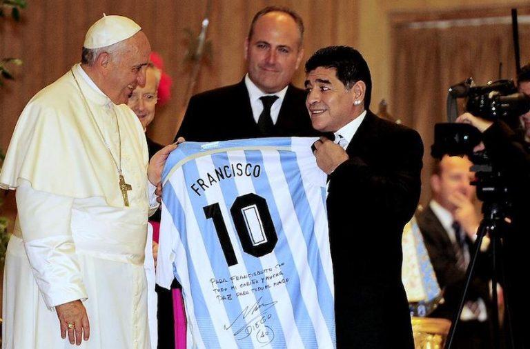 Papa Francisc, despre Diego Maradona: ˝Pe teren a fost un poet, un mare campion ˝